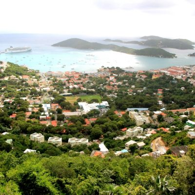 Гледка към Шарлот Амали - столицата на Св. Томас
