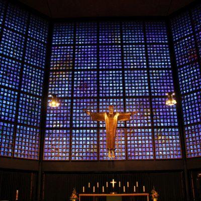 Новопостроената църква до Kaiser Wilhelm Memorial