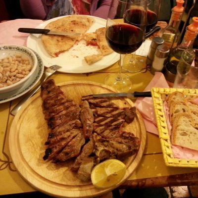 Стека ми по Флорентински в чинията :)