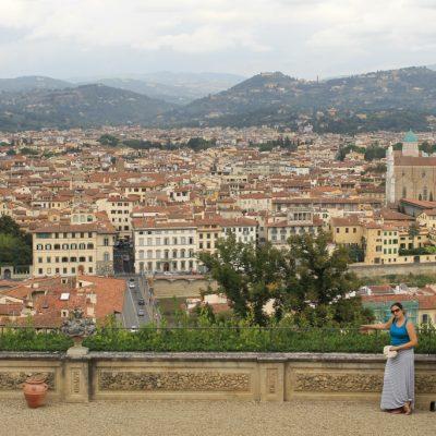 Панорама към Флоренция от градините Боболи