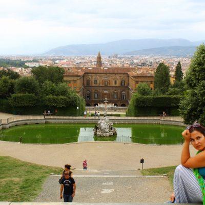 Градините Боболи и вътрешния двор на двореца Пити
