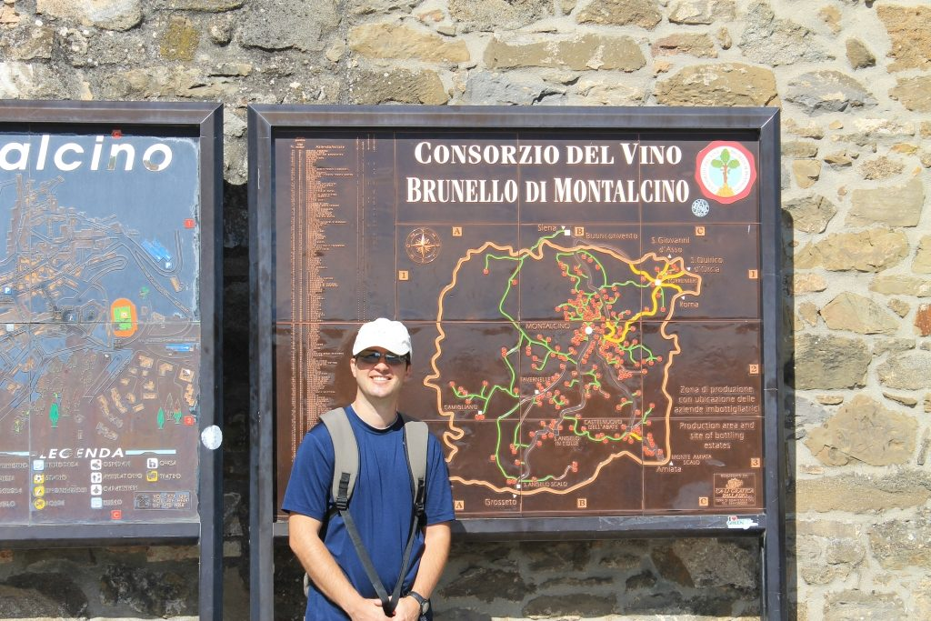 Brunello di Montalcino producers map