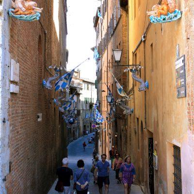 Знамената на различните контради /квартали/ в Сиена