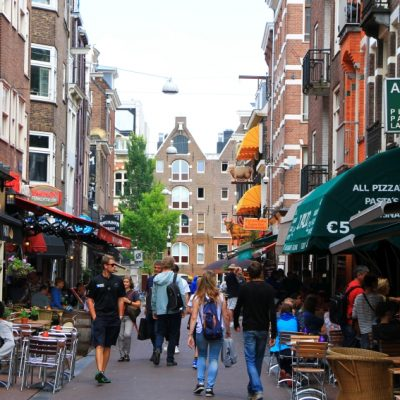 Площад Leidseplein в Амстердам