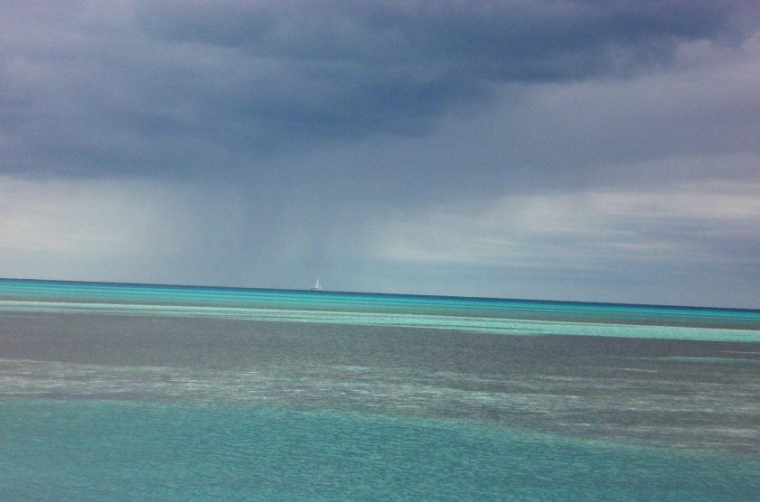 Bahamas shades of blue ocean