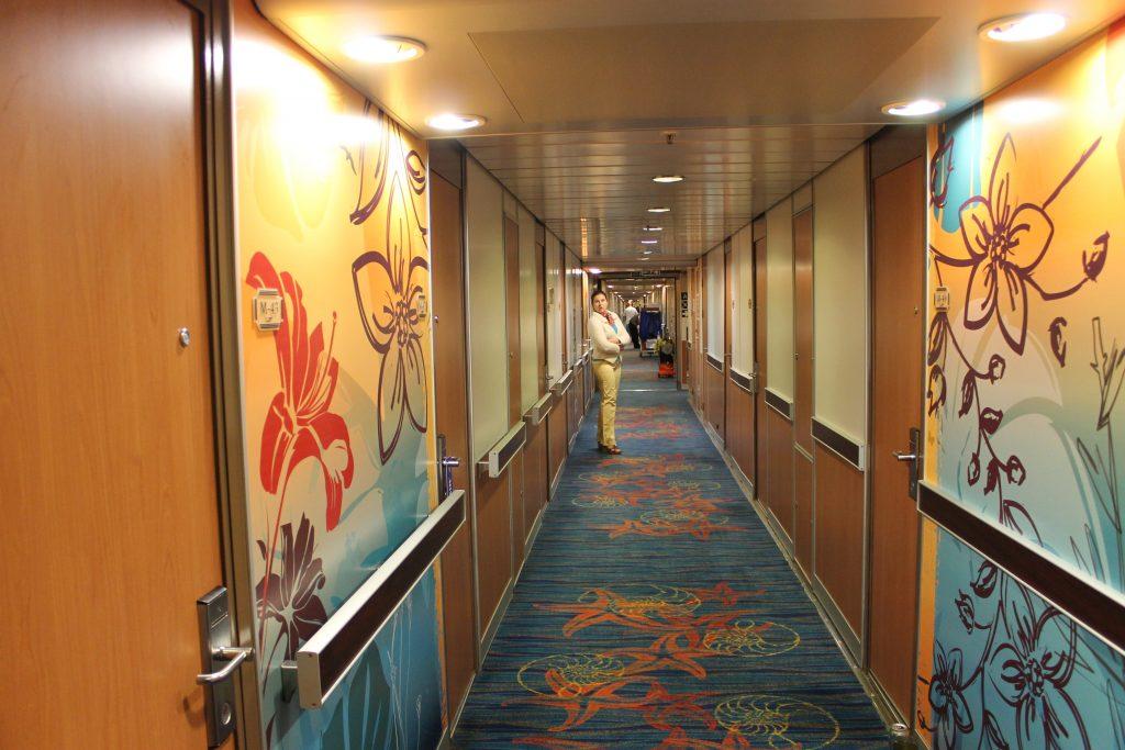 Carnival Ecstasy corridors