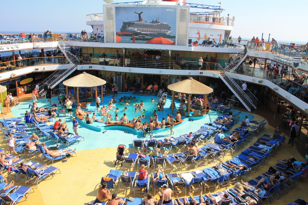 Carnival Breeze crowd