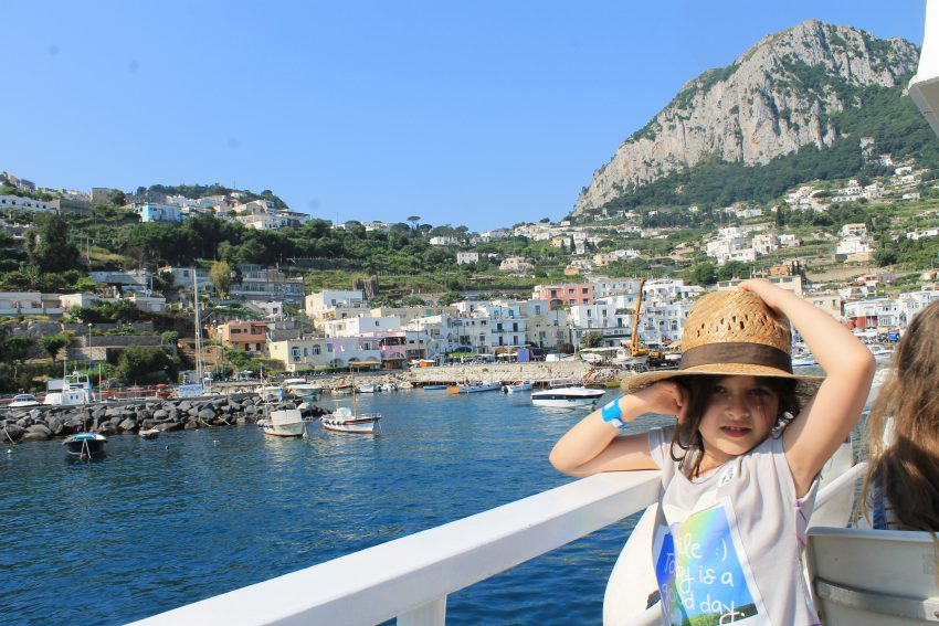 Arriving at Capri island