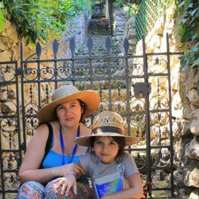 из градините на вила Сан Микеле на остров Капри
