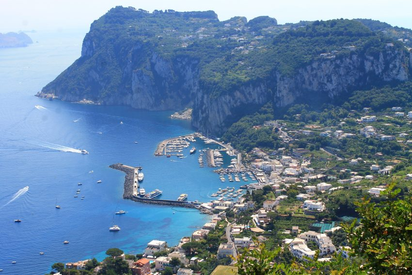 View from villa San Michelle in Capri
