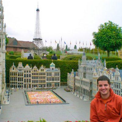 Централния площад Grand Place в парка Мини Европа в Брюксел
