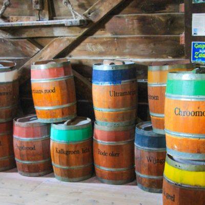 Мелницата за производство на бои Zaanse Schans - De Kat