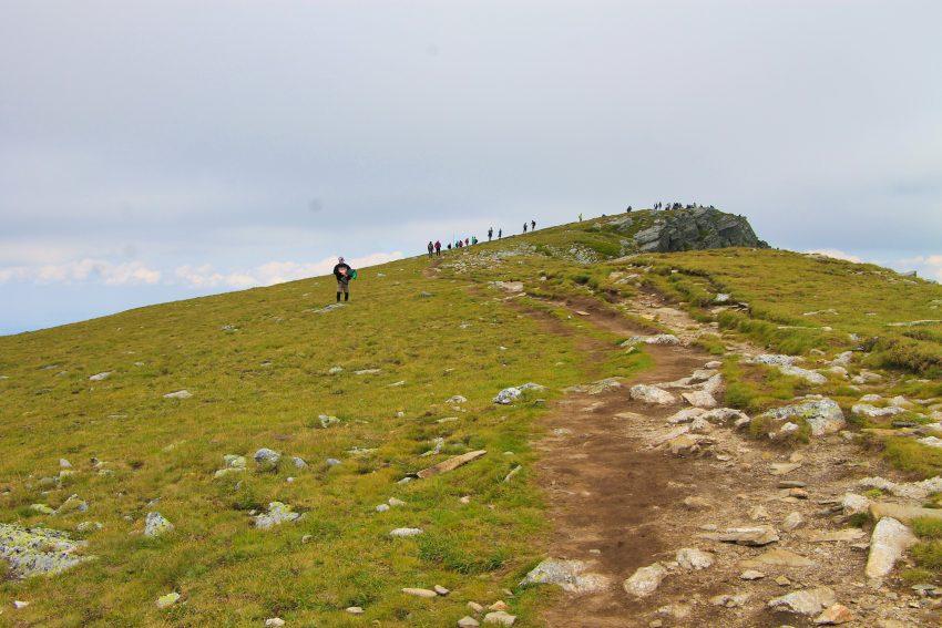 Последни метри по билото преди връх Мальовица