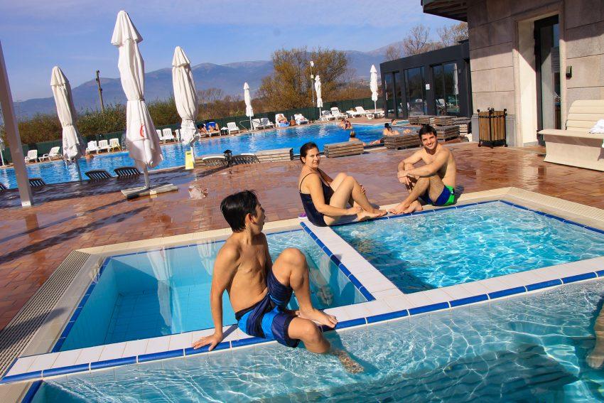 Hot Springs contast pools