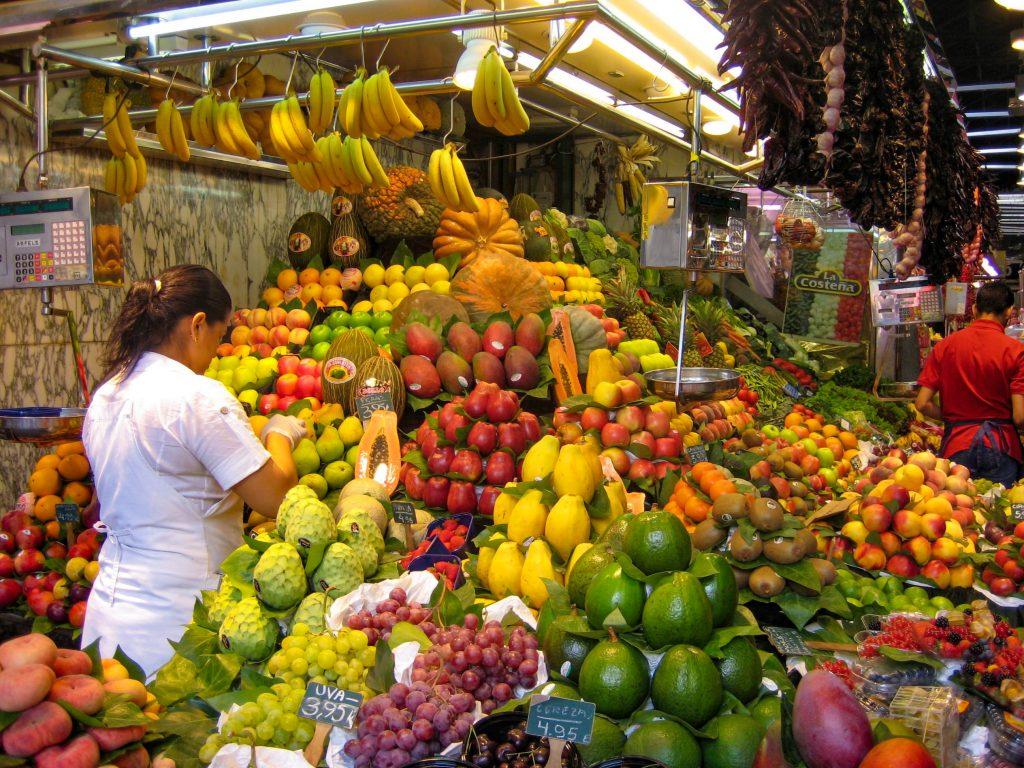 Barcelona's famous market La Boqueria