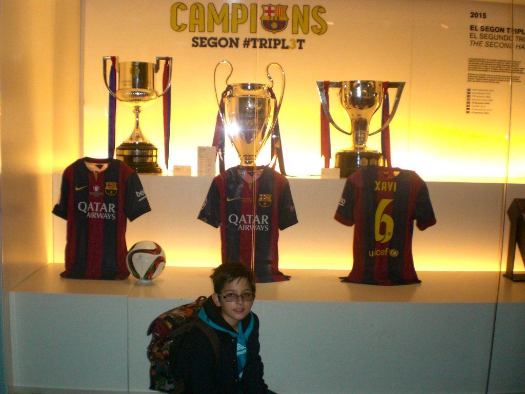 Camp Nou Barcelona trophies