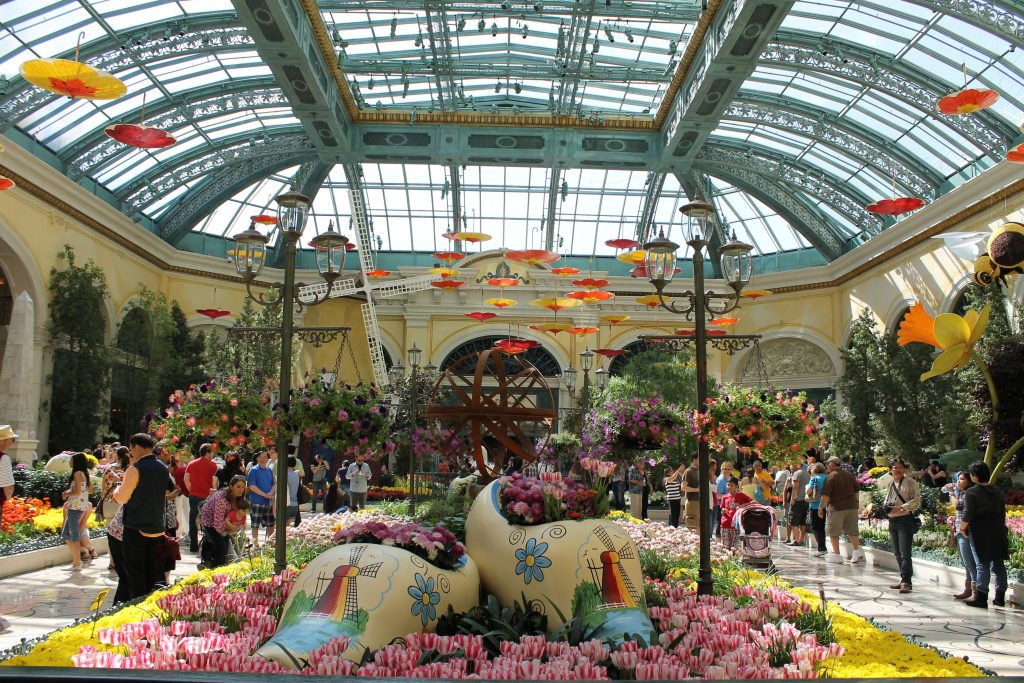 Botanical garden in Bellagio Las Vegas