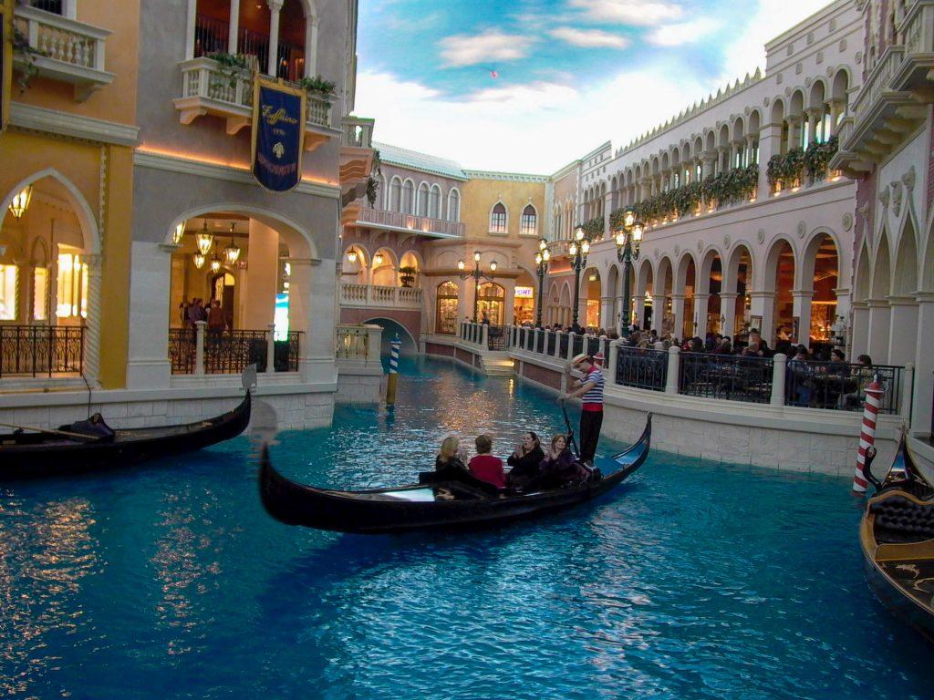 Venetian Las Vegas gondolas
