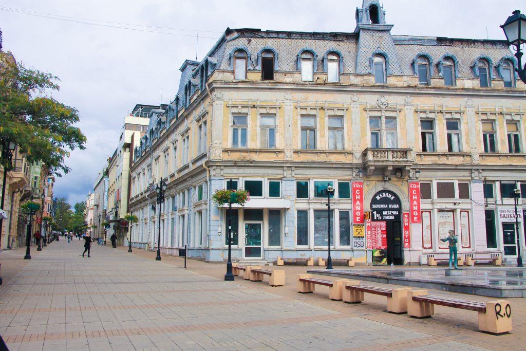 """Сградите по ул. """"Александровска"""" в Русе"""