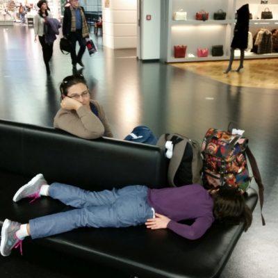 Така изглеждат нещата след 9 часов нощен полет и 7 часов престой на летището във Франкфурт