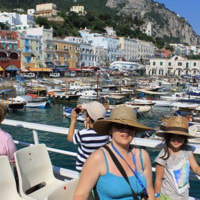 Пристанището Marina Grande на остров Капри