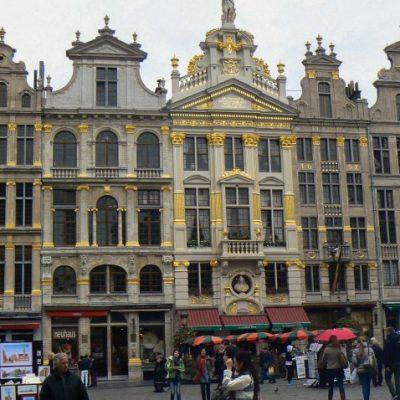 Брюксел - сградите с канторите на занаятчийските гилдии