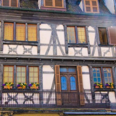 Фасада на къща в Колмар
