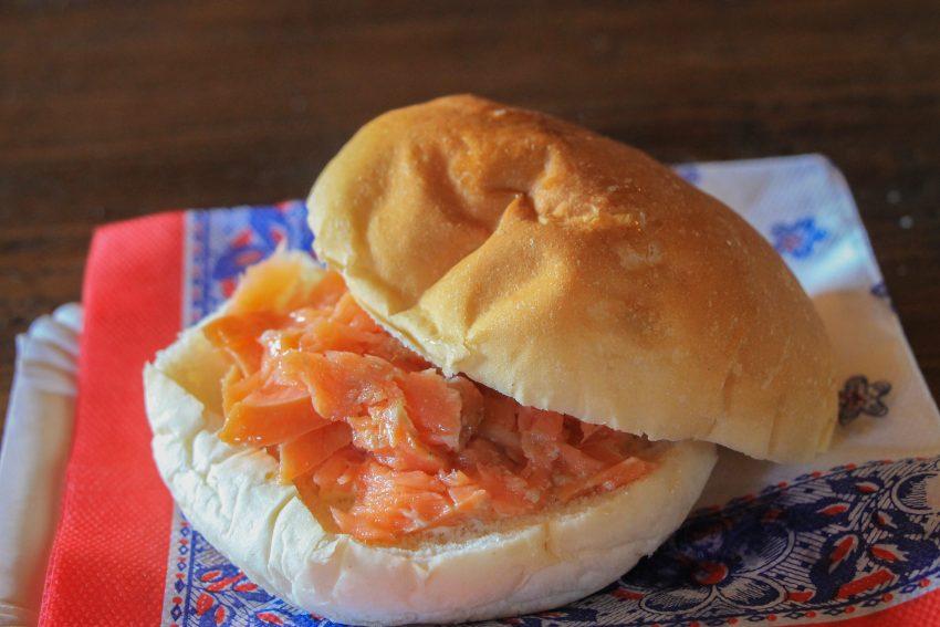 Сандвича с пушена сьомга